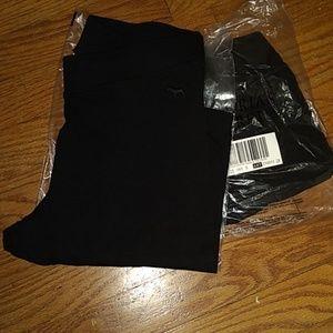 2 pair of new Pink Victoria secret black leggings